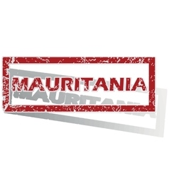 Mauritania outlined stamp vector
