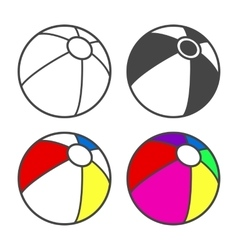 Toy beach ball for coloring book isolated on vector