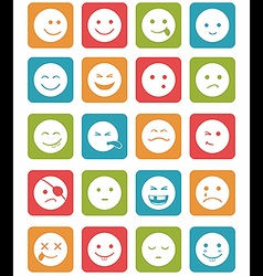Icons set 20 faces and characters different in vector