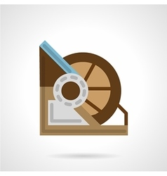 Flat color winch machine icon vector