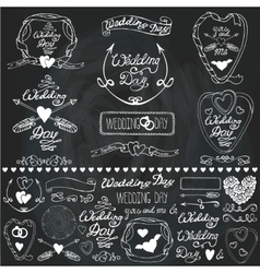 Wedding decor elements setlabelscards vector
