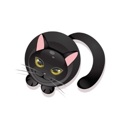 Black cat on a white background vector