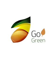 Go green logo green nature concept vector
