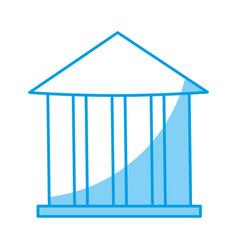 Bank bulding icon vector