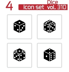 black castle icons set vector image vector image