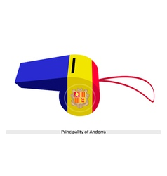 Blue Yellow and Red Stripe on Andorra Whistle vector image