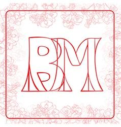 Bm monogram vector