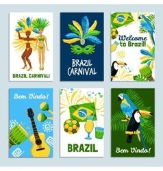 Brazil Poster Set vector image vector image
