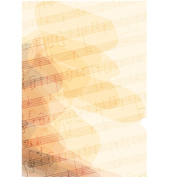 Bsckground with handmade musical notes vector image vector image