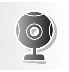 Chat web camera sign new year blackish vector