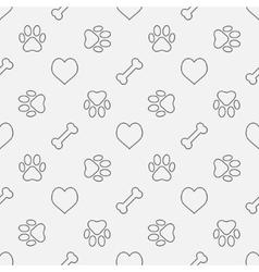 Dog minimal pattern vector