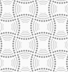 Dotted rectangles with dotted arcs vector image vector image
