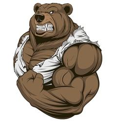 Ferocious bear athlete vector