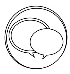 Figure round chat bubbles emblem icon vector