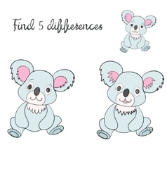 Find differences kids layout for game vector image