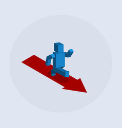 Forward arrow man progress vector