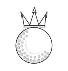 Golf emblem icon vector