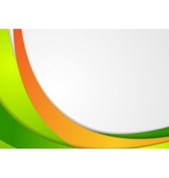 Green and orange corporate wavy background vector image vector image