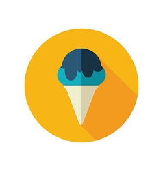 Ice Cream flat icon Summer Vacation vector image vector image