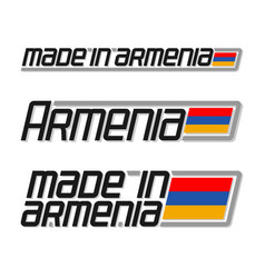 made in armenia vector image vector image