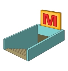 Metro icon cartoon style vector