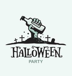 Modern professional sign logo helloween vector