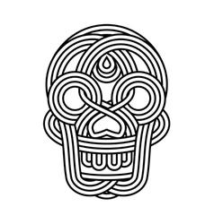 Parallel lines skull symbol vector image vector image