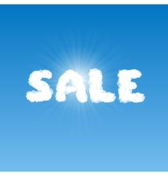 Sale shape clouds vector