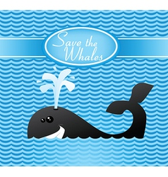 Save the whales vector image vector image