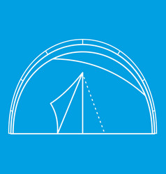 Semicircular tent icon outline style vector