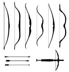 Set of old bows vector