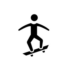 skating - skate icon black vector image