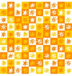 sun background pattern vector image vector image