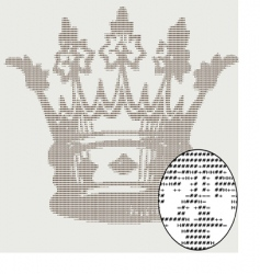 text crown design vector image vector image