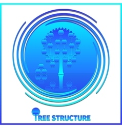 Tree structure corporate hierarchy vector image
