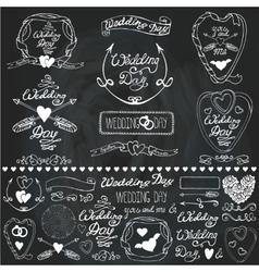 Wedding decor elements setLabelscards vector image vector image