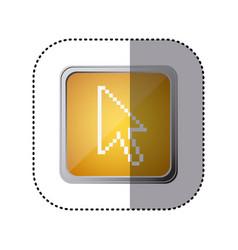 Yellow emblem arrow cursor vector