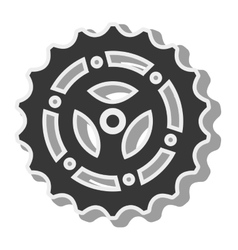 Gear bike wheel vector