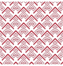 Bright Seamless pixel patterns winter vector image
