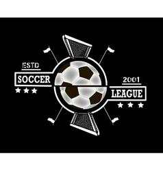 Logo soccer league vector