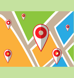 Navigator map with points journey concept design vector