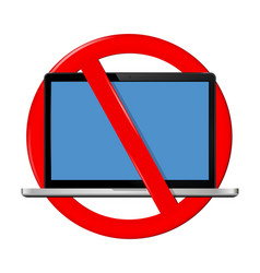 Not use laptop sign vector