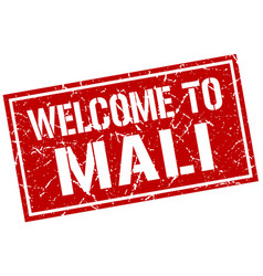 Welcome to mali stamp vector