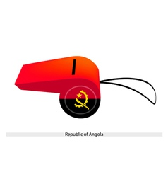 A red and black whistle of angola vector