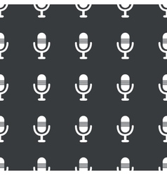 Straight black microphone pattern vector