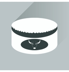 Flat with shadow icon open canned beef vector