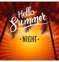 Summer night dance party Beach summer night party vector image