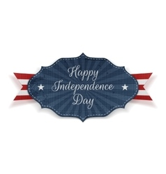 Happy independence day realistic festive tag vector