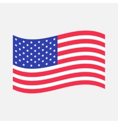 Waving american flag icon isolated whte vector