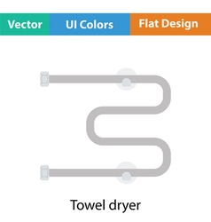 Towel dryer icon vector